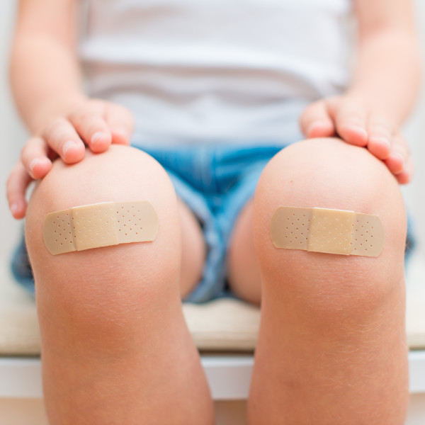 Skinned Knees with Healing Salve