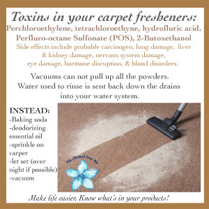 Toxins in Carpet Cleaners